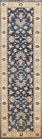 Vegetable Dye Peshawar-Chobi Floral Oriental Runner Rug Wool Hand-knotted 3x10