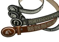 Kids AUTHENTIC MEXICAN WESTERN cinto piteado Hand-braided belt
