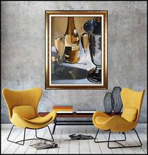 Thomas Stiltz Large Oil On Canvas Painting Signed Wine Champagne Signed Artwork