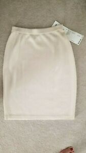 NWT St John Marie Gray white skirt size 4 Perfect condition