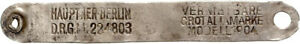 Ohrenmarke Per Bestiame IN Kolonialgebiet 1904 Colonie (49708)