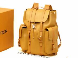 Louis Vuitton Virgil Abloh Christopher GM Backpack Bag M53270 Camel Auth New