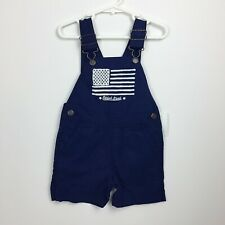OSHKOSH B'GOSH Vestbak Boys Blue White Patriotic Flag...