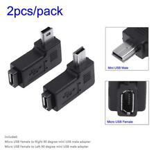 2x 90° Grad Micro USB Buchse auf zu Mini USB Stecker Winkel Adapter abgewinkelt