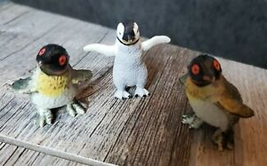 "Lot Of 3 Penguin Animal Figures 1.75"""