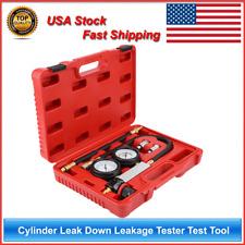 Cylinder Leak Down Leakage Tester Detector Engine Compression Gauges Test Tool