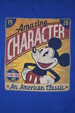 rare Mickey Mouse 1928 Amazing Character He Leads Them All Xl t shirt Disney