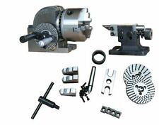 """BS-1 Precision Milling Machine Dividing Head With 6"""" 3-jaw Chuck & Tailstock"""