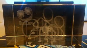 2013 Alton Towers The Smiler Glass lasercut paperweight
