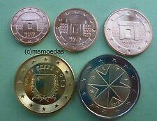 Malta piccolo KMS 5 monete metalliche in euro 2013 con 1+2+5+50 cent + 2 EURO MONETE METALLICHE IN EURO COINS