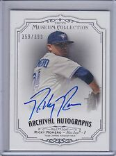 RICKY ROMERO 2012 Topps Museum Collection Archival Autograph #359/399  (B7773)