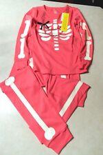 Gymboree Halloween Pink Skeleton Glow in the Dark Pajamas PJ's Gymmies  10  NWT