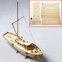 1:30 DIY Wooden Sailing Boat 3D Model Kit Educational Assembly Ship Kid Toy Gift
