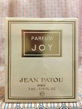 Vintage 1980s JOY Jean Patou 1/4 oz 7 ml Pure Parfum Flaconnette - OLD FORMULA