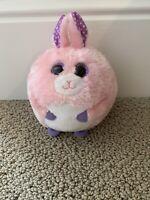 Ty Beanie Ballz Carnation Pink Bunny Rabbit Plush