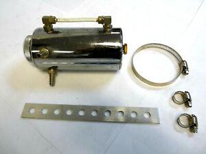 OBX Universal Aluminum Chrome Cylinder Coolant Reservoir Tank