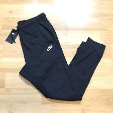 Nike Men Sportswear Club Jersey Cuff Jogger Size XL Pants Black White 804461