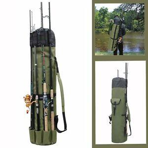 Fishing Bag Rod Holder Fishing Rod Reel Storage Bag Travel Carry Case Organizer