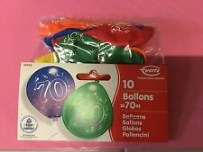 "10 everts cumpleaños globos"" 70"" años número zahlenballons"