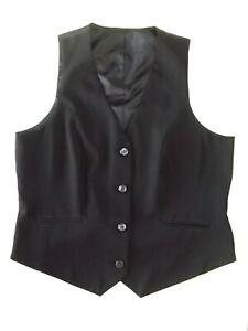 Smart Ladies waistcoat South Size 14 Black Lined Good cond Christmas VR2