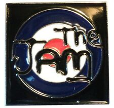 The Jam MOD Revival Punk Rock Band Metal Target Scooter Rider Enamel Badge 26mm