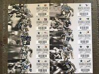 Dallas Cowboys 2013 Full Season Ticket Stubs Uncut MINT!