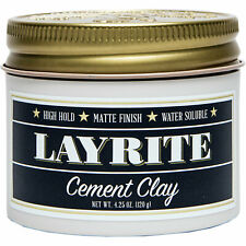 Layrite Cement Hair Clay 120g | Strong Hold Styling Pomade