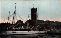 Schiffe & Seefahrt ~1910 Schiff Dampfer im Hafen Ostende La Gare Belgien Schiff