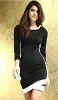 MiniAbito Vestito Donna Abito KEY LOVER B741 Nero Tg Unica S/M
