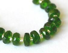 CHROME DIOPSIDE BEADS FACETED RONDELLE 4 - 4.5 MM 15 PCS NATURAL GEMSTONE #3314