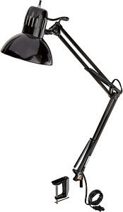 "Globe Electric 56963 Metal Clamp-Swing Arm Multi-Joint Desk Lamp, 31.5"", Black"