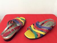 Ros Hommerson Multi-Color Calypso Slingback Sandals, Womens 7M Shoes (box15)