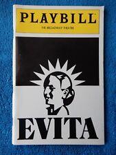 Evita - Broadway Theatre Playbill - April 1982 - Derin Altay - James Stein