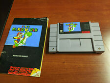 Super Nintendo SNES Super Mario World Game Tested Working with Manual!  Vintage!