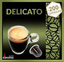 200 Italian Capsules Compatible Nespresso Machines!(Arabica Delicato)! Karoma