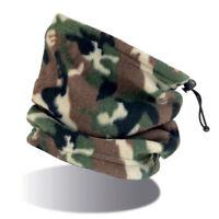 SCALDACOLLO Camouflage MILITARE in PILE Uomo DONNA Fascia CUFFIA Sciarpa TESTA