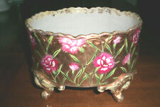 Antique FERNER Carnations on solid Gilt Background / Hand Painted