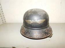 Originaler Stahlhelm, Gladiator- Luftschutzhelm, RLB, 2.WK