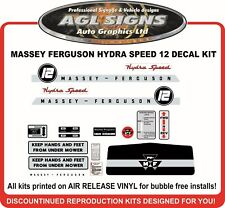 MASSEY FERGUSON 12 Hydra Start GARDEN TRACTOR DECAL SET  MF 12     reproduction