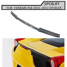 Carbon Fiber Rear Trunk Wing Spoiler Lip For Ferrari 458 ITALIA SPIDER 2011-2013