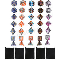 35pc/Set TRPG Game Dungeons & Dragons Polyhedral D4-D20 Multi Sided Acrylic Dice