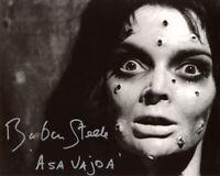 BARBARA STEELE SIGNED 8x10 PHOTO +ASA VAJDA HORROR BLACK SUNDAY RARE BECKETT BAS