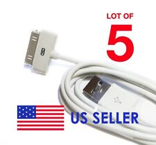 Lot 5 USB Charger Data Cable Wire FOR iPod iPhone iTouch 4 3 Generic White New~
