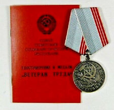 "Soviet Russian Medal ""Veteran of Labour"" with document - Original"