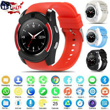 V8 NEW Smart Watch Wrist Phone Mate Round Touch Screen GSM for Android IOS