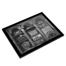 A3 Glass Frame BW - Old Vintage Radios Transmitter  #43304