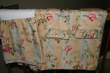 Ralph Lauren HIGHFIELDS Floral Stripe QUEEN DUVET Comforter COVER & Shams - 4 PC