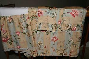 Ralph Lauren HIGHFIELDS Floral Stripe QUEEN DUVET Comforter COVER & Shams - 4 PC