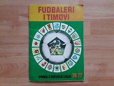 Yugoslavia Football Championship 1976/77 - Stickers Album - 80% filled