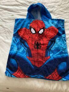 Spiderman Hooded Poncho  Beach Swim Towel